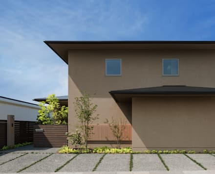 Wooden houses by 柳瀬真澄建築設計工房 Masumi Yanase Architect Office