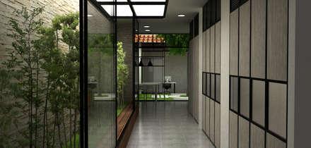 Casa Medianera : Pasillos y vestíbulos de estilo  por Elizabeth SJ