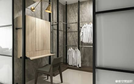 minimalistic Dressing room by 橡樹設計Oak Design