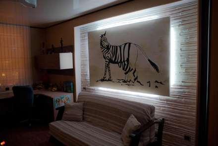 ห้องนอนเด็กหญิง by Дизайн-студия интерьера и ландшафта 'Деметра'