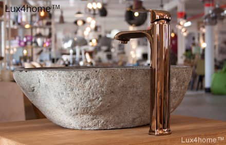 Natural stone basins - River stone bathroom sink: industrial Bathroom by Lux4home™ Indonesia