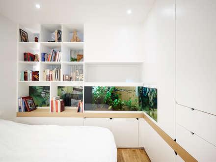 Aquatic flat: Chambre de style de style Moderne par ATELIER JMCA