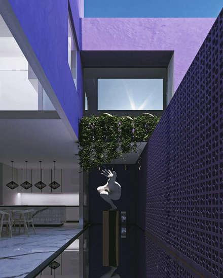Laghetto da giardino in stile  di Obed Clemente Arquitectura