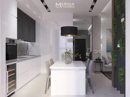 Кухня-гостиная: Встроенные кухни в . Автор – Архитектор-дизайнер Марина Мухтарова