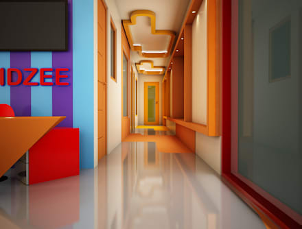 Reception / Corridor :  Schools by Rhomboid Designs