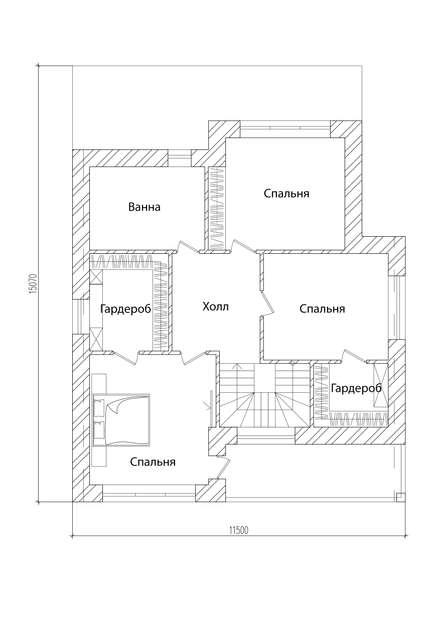 Condominios de estilo  por Архитектор-дизайнер Марина Мухтарова