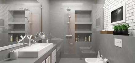 <40MQ: Bagno in stile in stile Industriale di ULA architects