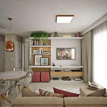 Sala de Estar/Jantar: Salas de estar modernas por Marcos Assmar Arquitetura | Paisagismo