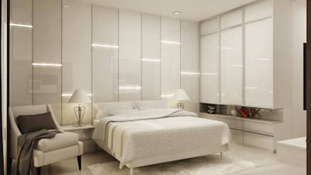 Interior Design of Mr Saravanan - Tulive - ECR - Appartment : modern Bedroom by Aurazia Design Studio