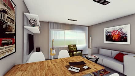 Livings ideas im genes y decoraci n homify for Comedores modernos chile