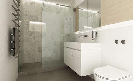 MINI BAD -  ganz gross: moderne Badezimmer von URBANroom