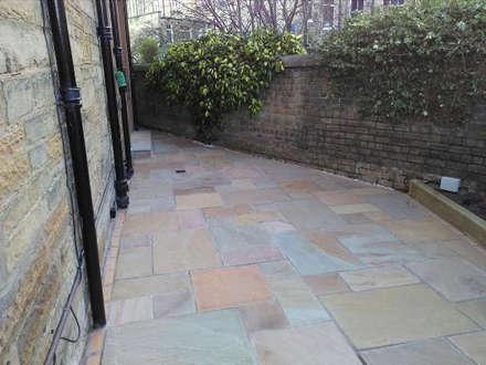Garden patio:  Front garden by Colinton Gardening Services - garden landscaping for Edinburgh