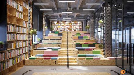 Необычный демонстрационный зал - дизайн офиса: Офисы и магазины в . Автор – Art-i-Chok