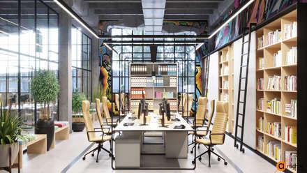 Креативный дизайн офиса IT-компании: Офисные помещения в . Автор – Art-i-Chok