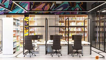 Комната для писателей - идеи необычного дизайна офиса: Офисные помещения в . Автор – Art-i-Chok