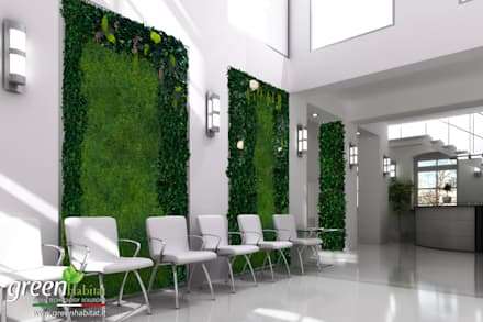 PARETI VERDI SENZA CURA: Studio in stile in stile Minimalista di Green Habitat s.r.l.