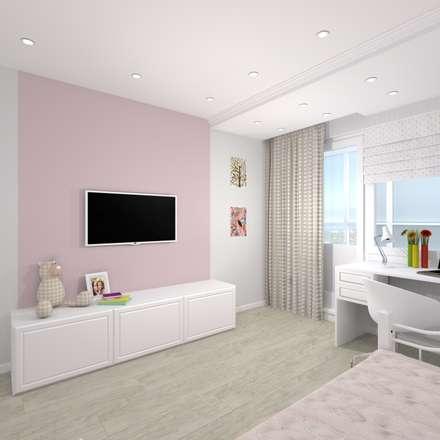 Квартира с совмещенной гостиной и спальней.: Детские комнаты в . Автор – ARTWAY центр профессиональных дизайнеров и строителей