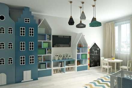 غرفة نوم أولاد تنفيذ Гузалия Шамсутдинова | KUB STUDIO