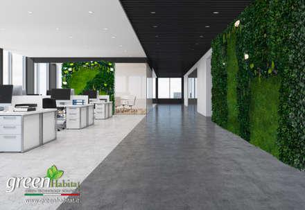ENTRATA D'IMPATTO GREEN: Complessi per uffici in stile  di Green Habitat s.r.l.