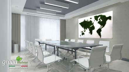 UFFICIO GREEN: Studio in stile in stile Industriale di Green Habitat s.r.l.