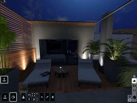 Terraza : Jardines de estilo moderno por Aida Tropeano & Asoc.