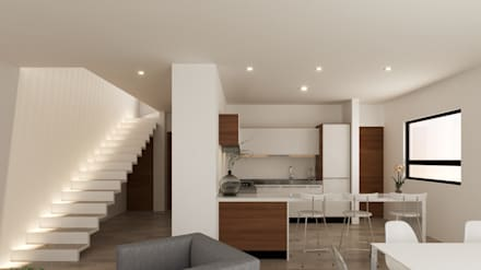 Cocinas equipadas de estilo  por Laboratorio Mexicano de Arquitectura