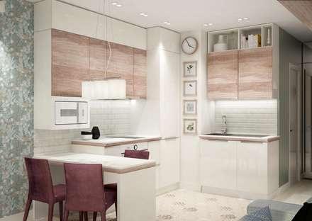Кухня-гостиная: Гостиная в . Автор – Гузалия Шамсутдинова | KUB STUDIO