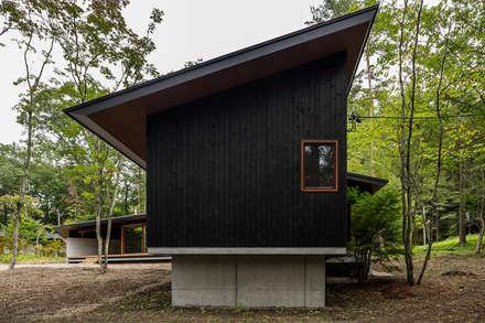 Наклонные крыши в . Автор – アトリエ慶野正司 ATELIER KEINO SHOJI ARCHITECTS