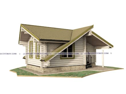 Проект садового дома или хозблока: Деревянные дома в . Автор – Projectstroy