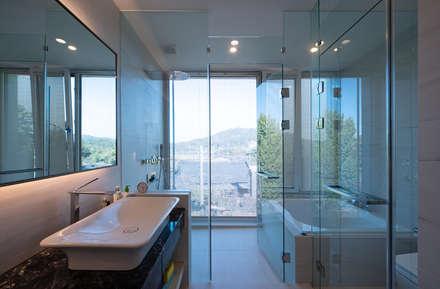 광주 서창동 1.4리터 패시브하우스 – 아들집: (주)자림이앤씨건축사사무소의  화장실