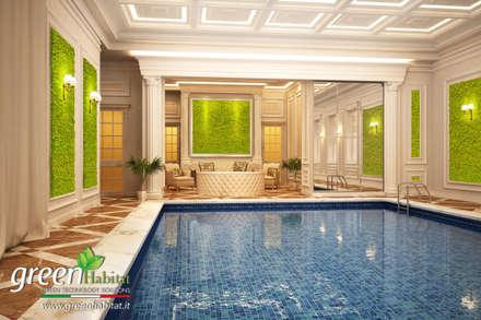 GIARDINI VERTICALI SPA: Piscina in stile in stile Classico di Green Habitat s.r.l.