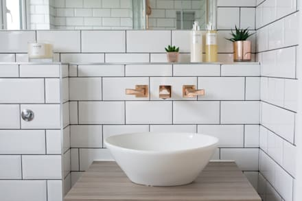 Fulthorpe Road - Main Bathroom: eclectic Bathroom by Brass & Rose Interiors