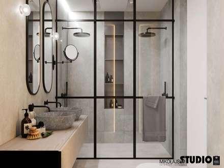 łazienka-loft: styl , w kategorii Łazienka zaprojektowany przez MIKOŁAJSKAstudio