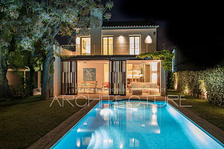 H House: Piscinas de jardín de estilo  de FPM Arquitectura