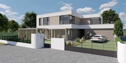 Ansicht Straße - Villa auf dem Riedberg:  Villa von SG Projekt GmbH