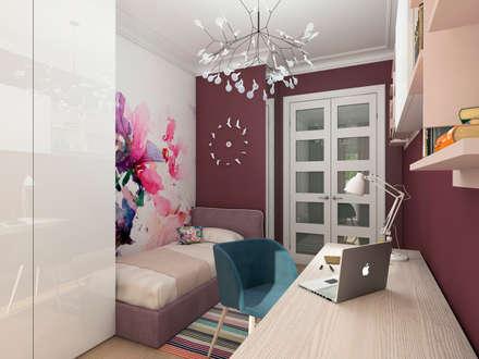 Спальня для девочки.: Спальни для девочек в . Автор – Clarte Design