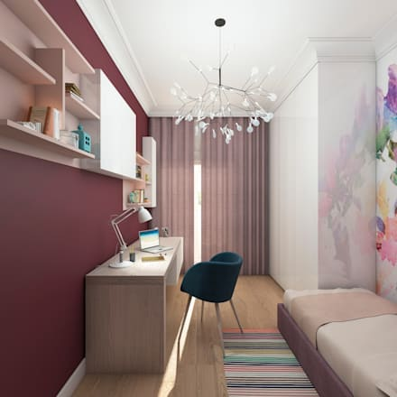 Girls Bedroom by Clarte Design