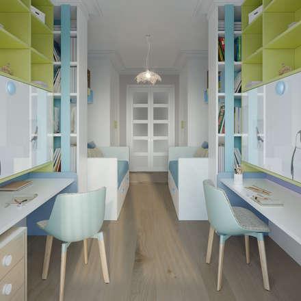 Спальня для двух малышей.: Детские спальни в . Автор – Clarte Design