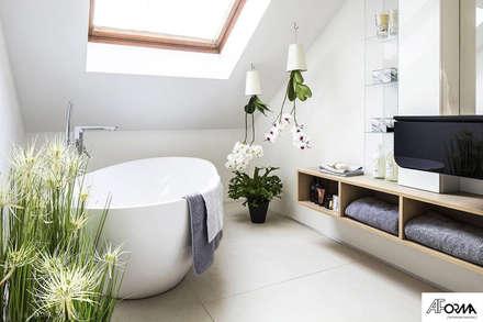 DOM W KOMOROWIE: styl , w kategorii Łazienka zaprojektowany przez AFormA Architektura wnętrz