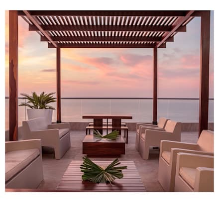CASA DE LA PLAYA: Piscinas de estilo tropical por Maria Teresa Espinosa