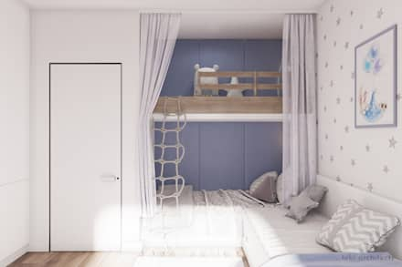 LIGHT AND BLUE: Jugendzimmer Von Tobi Architects