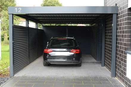 Stahlcarport - Frontansicht:  Carport von Schmiedekunstwerk GmbH