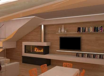 Ristrutturazione : Soggiorno in stile in stile Moderno di Simone Fratta Architetto