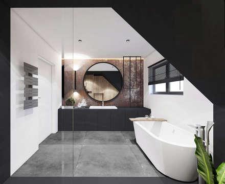 PROJEKT ŁAZIENKI / LIBERTÓW.: styl , w kategorii Łazienka zaprojektowany przez MADO DESIGN