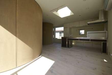 高井戸の家: (有)中尾英己建築設計事務所が手掛けたドアです。