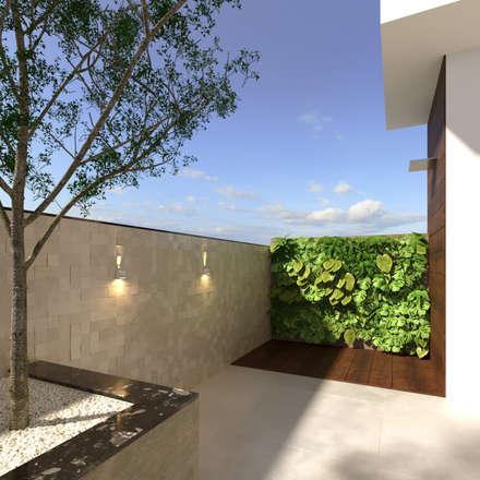 Terrazas de estilo  por Fabíola Escobar - Pratique Arquitetura