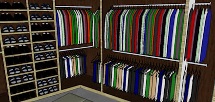 Vestier: Vestidores de estilo ecléctico por Proyectos Kukenán SAS