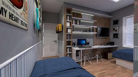 Teen bedroom by LK Studio Arquitetura