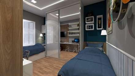 غرفة نوم مراهقين  تنفيذ LK Studio Arquitetura