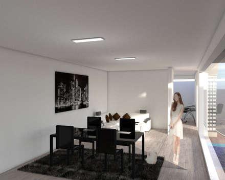 interiorismo: Salas de estilo minimalista por ARCHIMINIMAL ESTUDIO